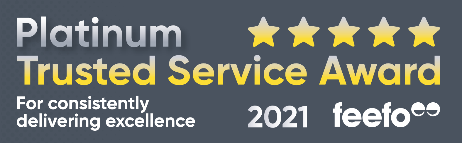 Feefo Platinum Trusted Service Award 2020