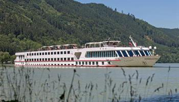 MV Carissima sailing along the Danube