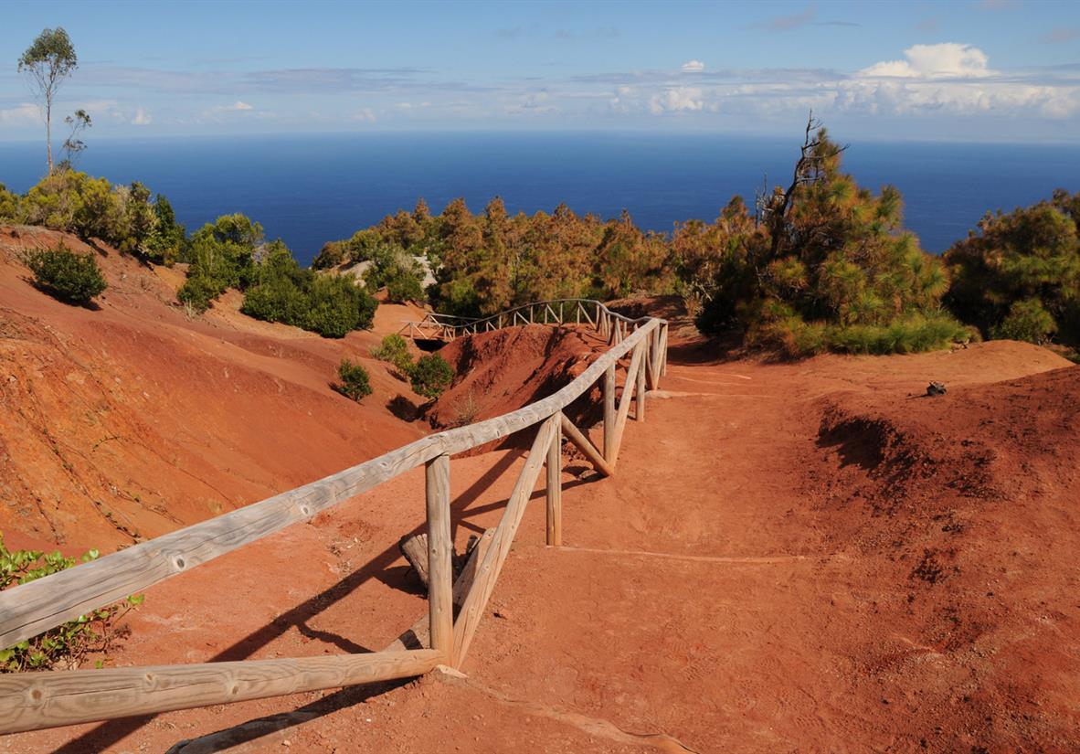 Meerblick von Roque de Los Muchachos