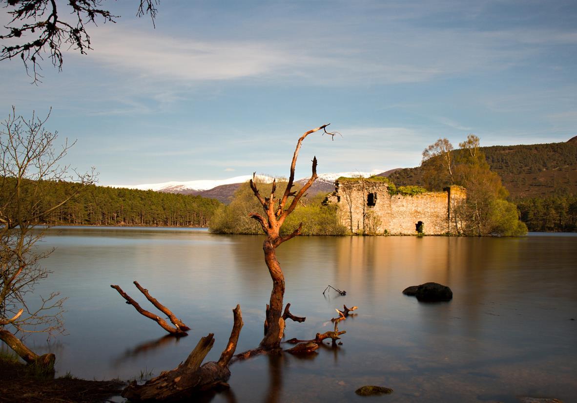 Lochan Eilean castle near Aviemore