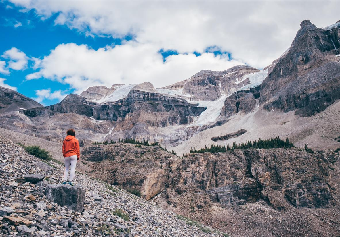 Views of Stanley Glacier in Banff National Park