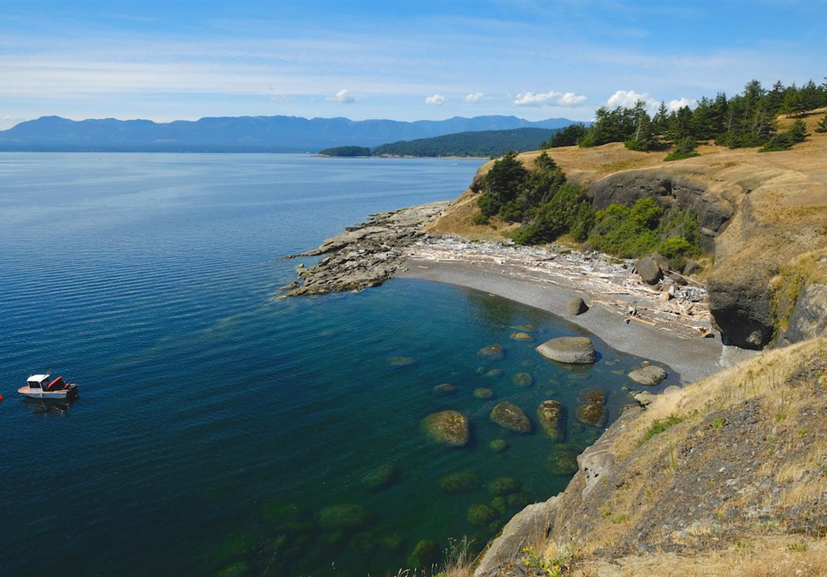 Coastline of Hornby Island