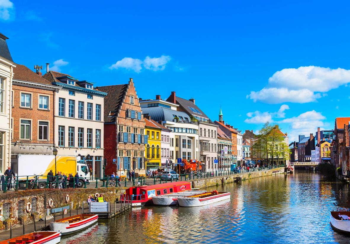 The colored houses of Ghent