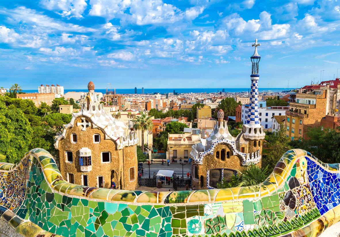 Views from Park Guell in Barcelona