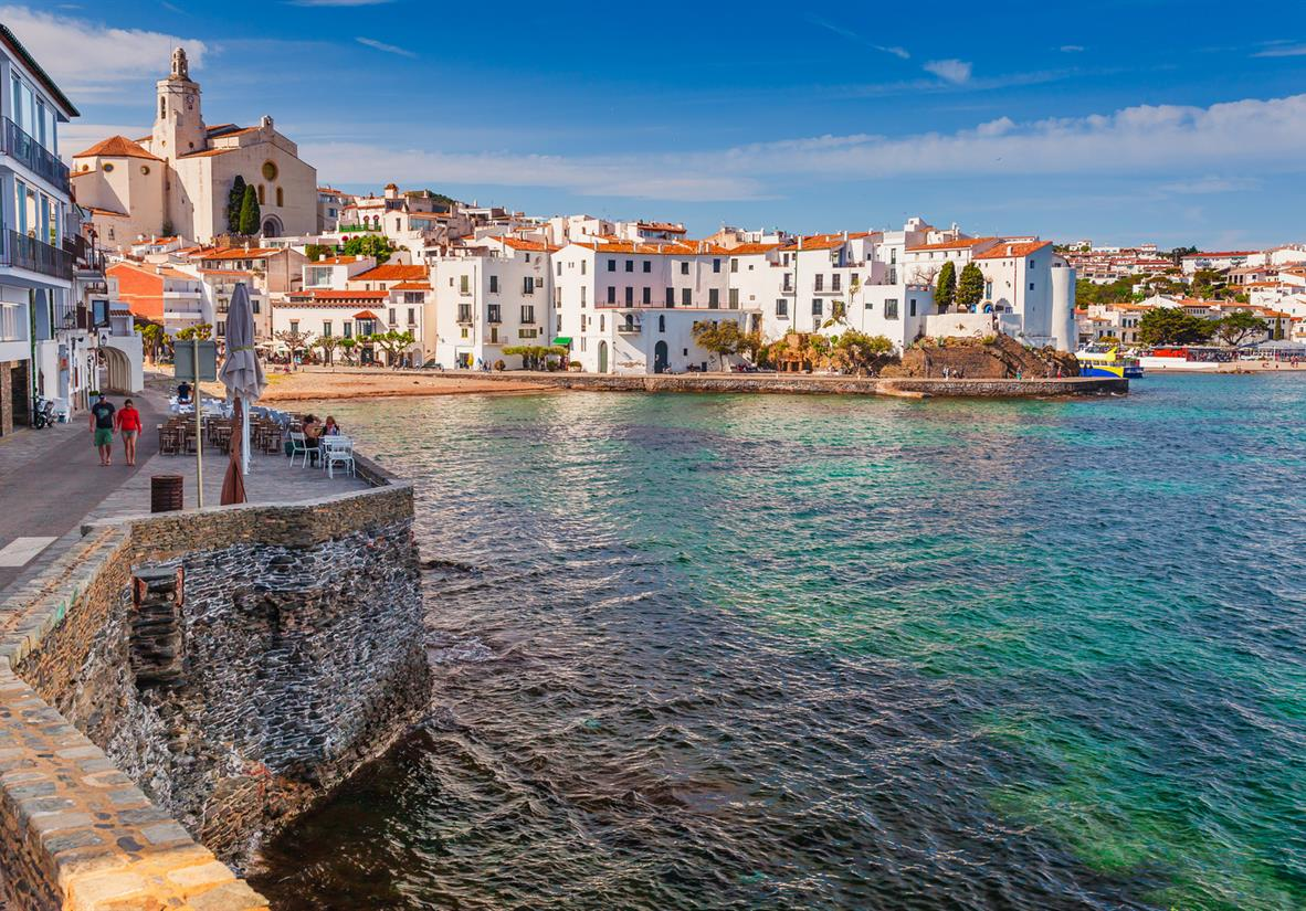 The white-washed town of Cadaques
