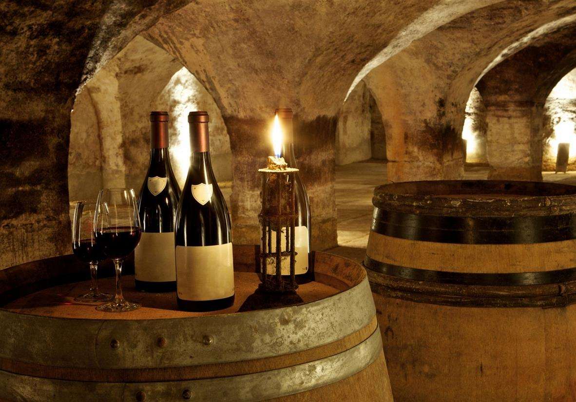Wine caves in Burgundy