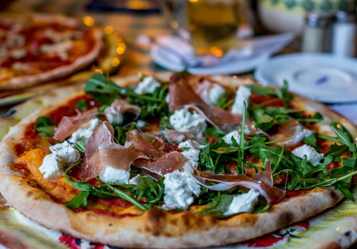 Parma ham pizza - delicious!