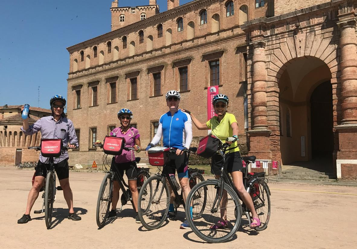Happy cyclists en route to Bologna