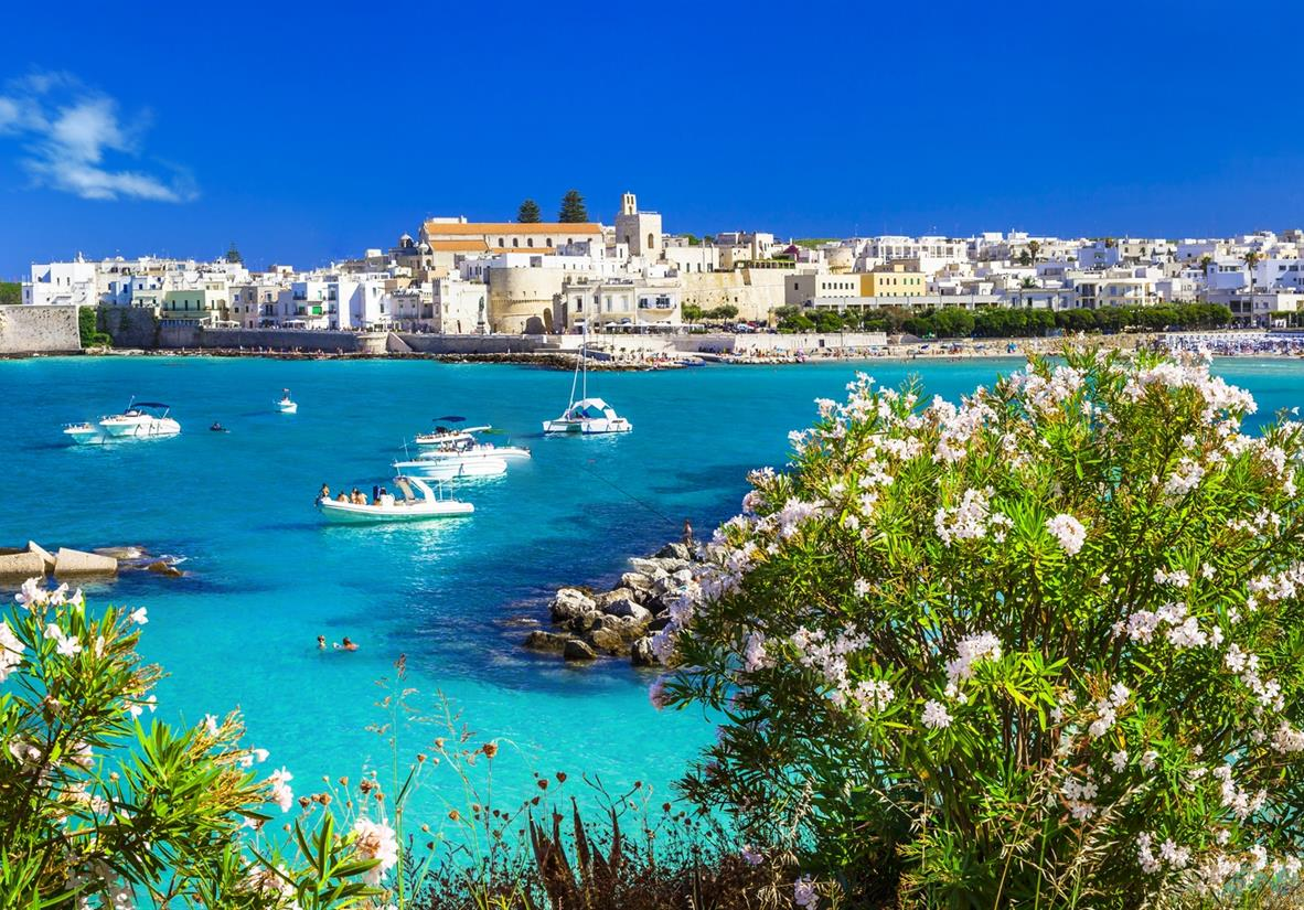 The beautiful blue waters surrounding Otranto
