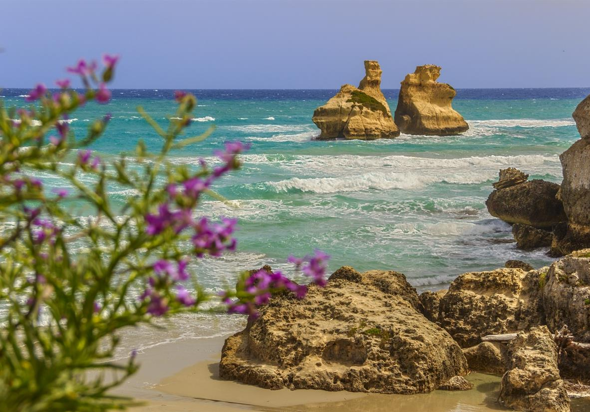 The stunning Puglia coastline