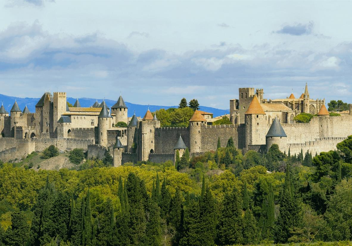 Visit the medieval town of Carcassonne