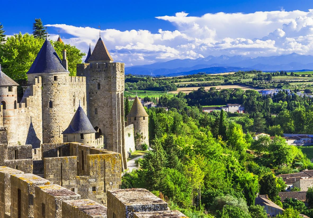 Carcassonne's Cathar castle in the city centre