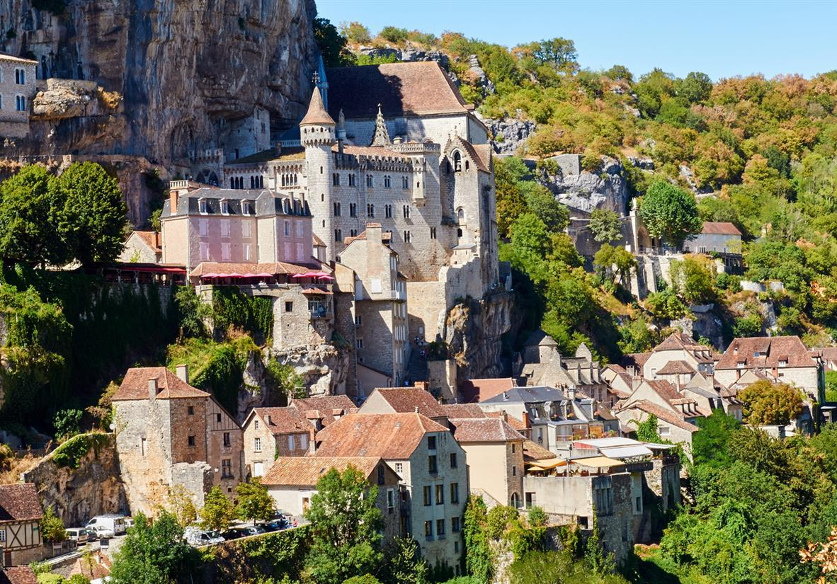 The cliffside village of Rocamadour