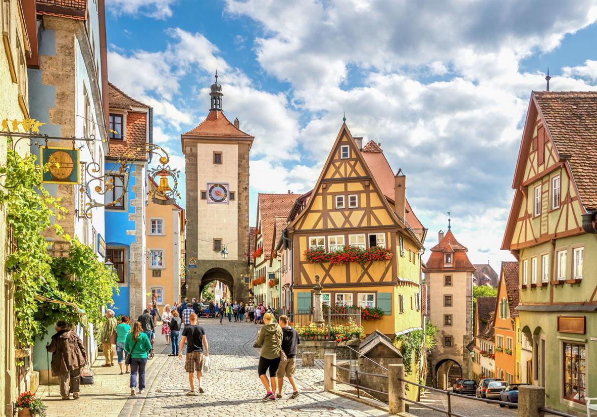 Verträumte Gassen in Rothenburg