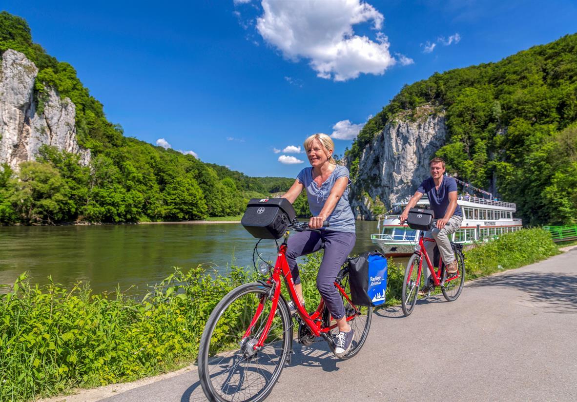 Am imposanten Donaudurchbruch bei Weltenburg