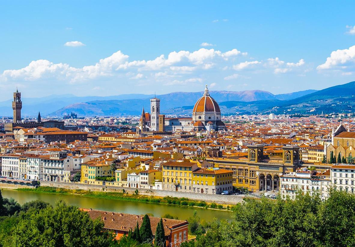 The beautiful Florence skyline