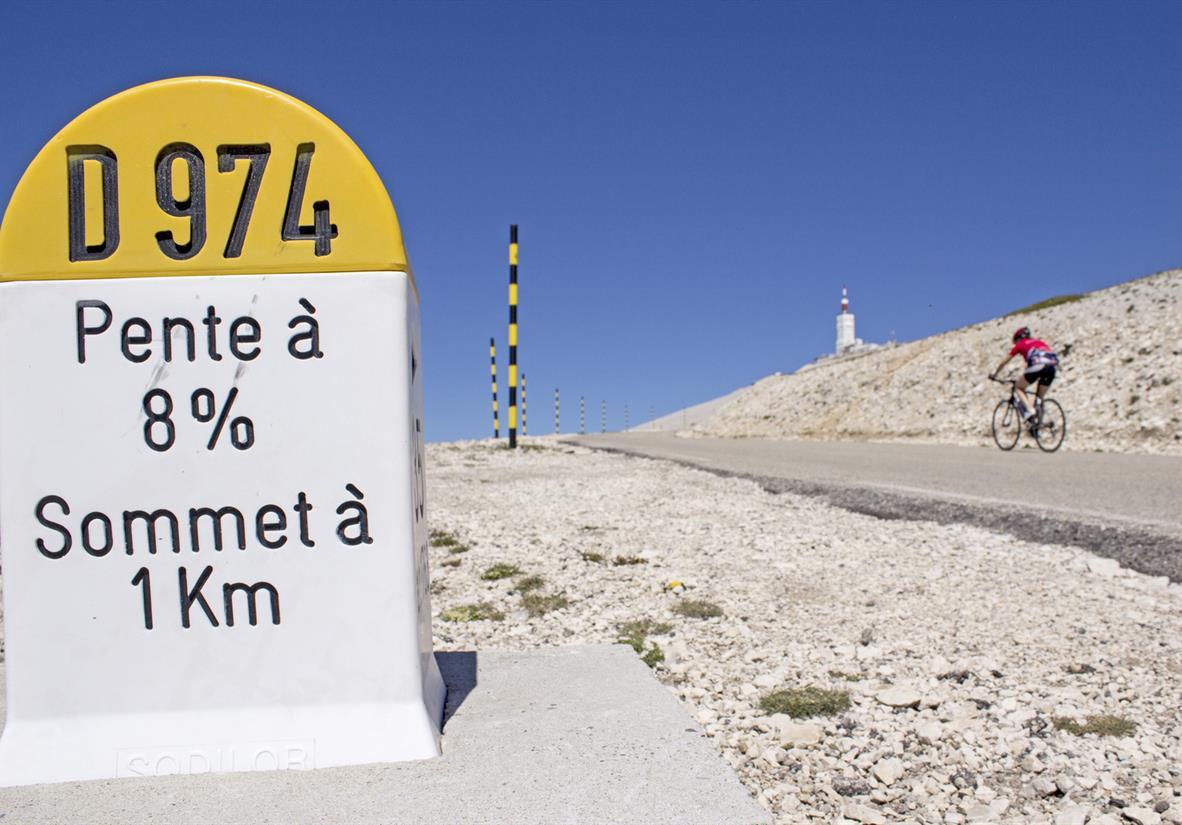Mont Ventoux, nearing the summit