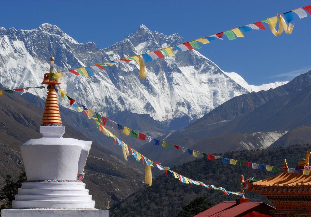 Tengboche Monastery frames Mount Everest