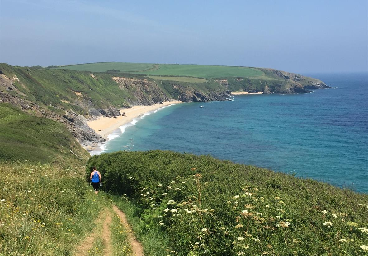 Sandy beaches on the way to Portloe