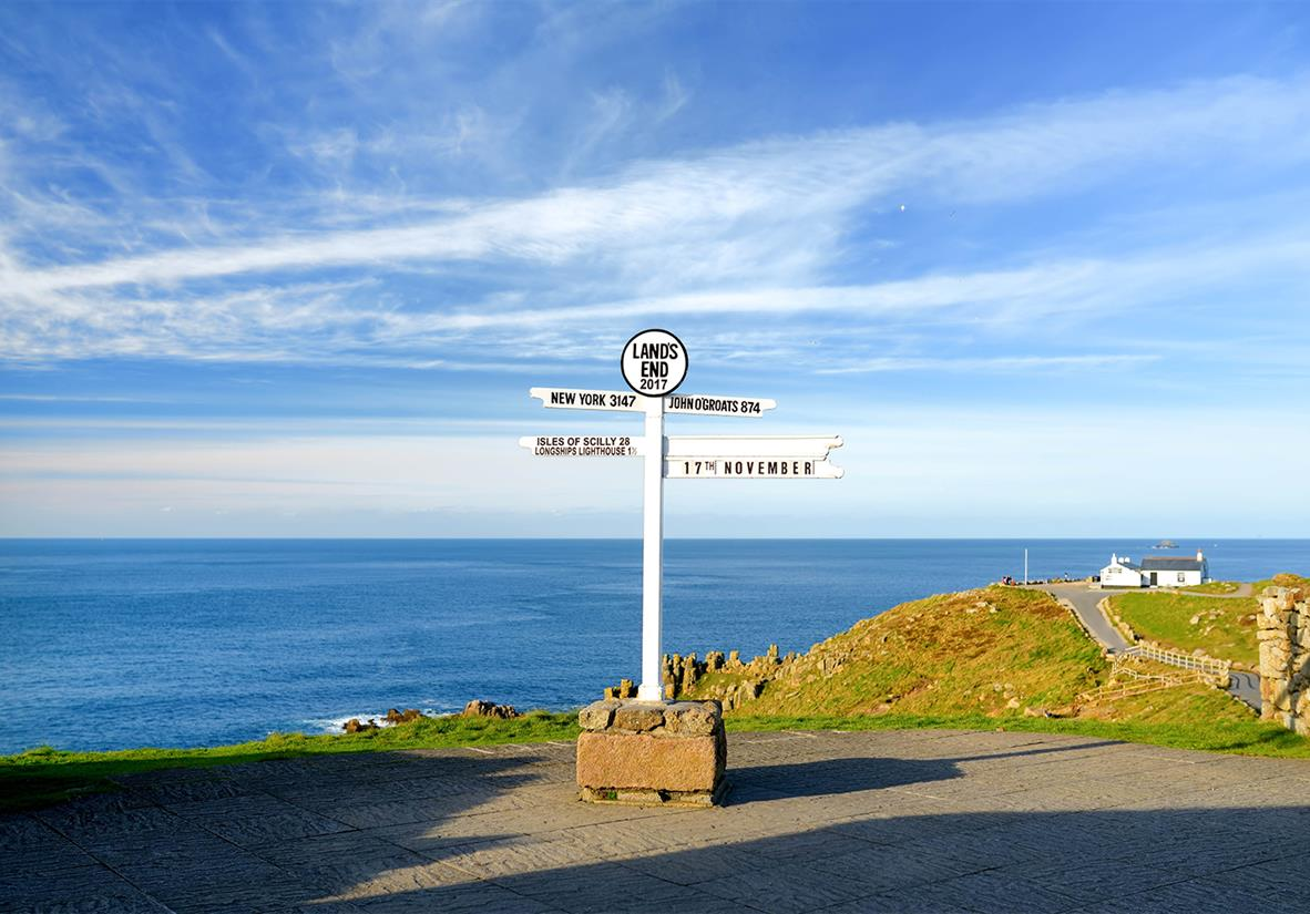 Lands End, the UK's most southerly point