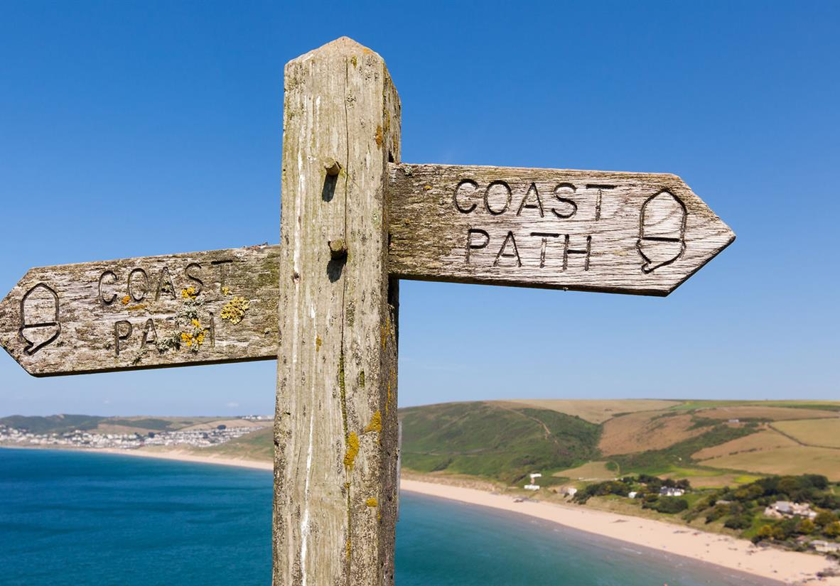 The path is well waymarked and easy to follow