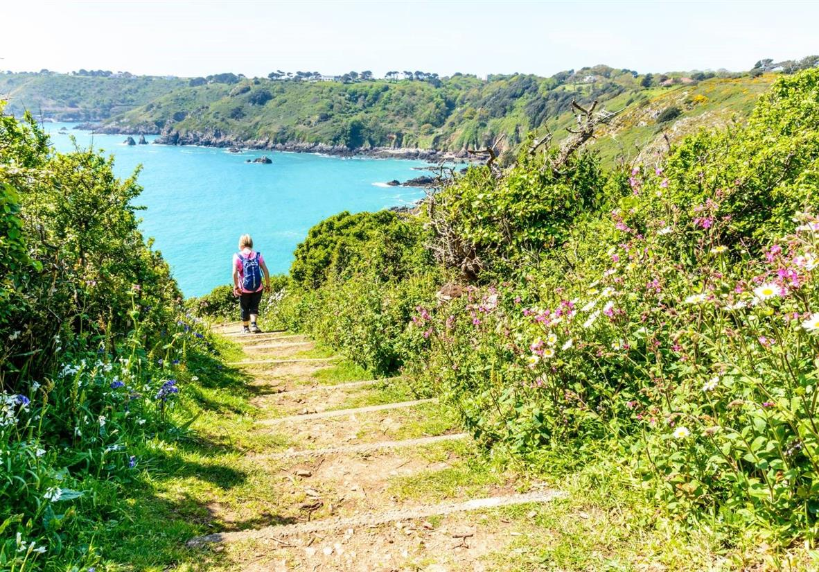 Walk down to picturesque sheltered bays