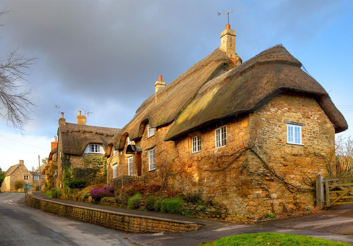 Thatched roof cottages in Chipping Campden