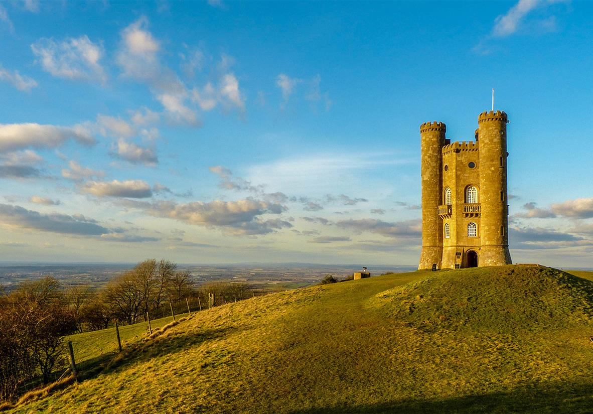 Best views on the trail at Broadway tower