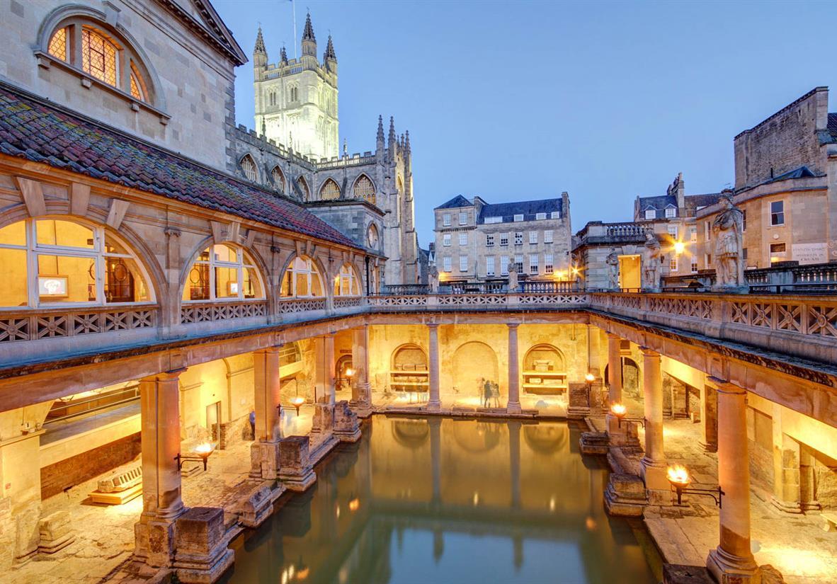 Vintage Roman bath houses
