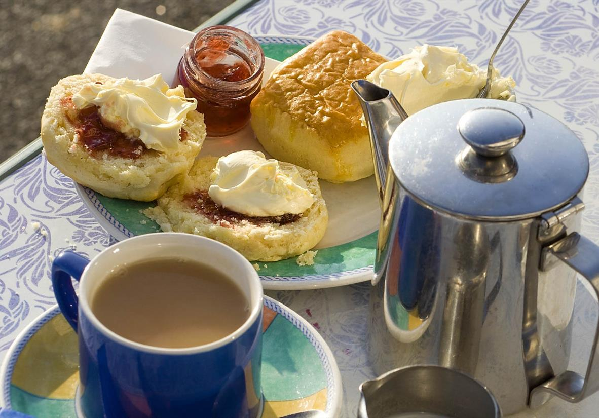 A delicious cream tea is a must when in England