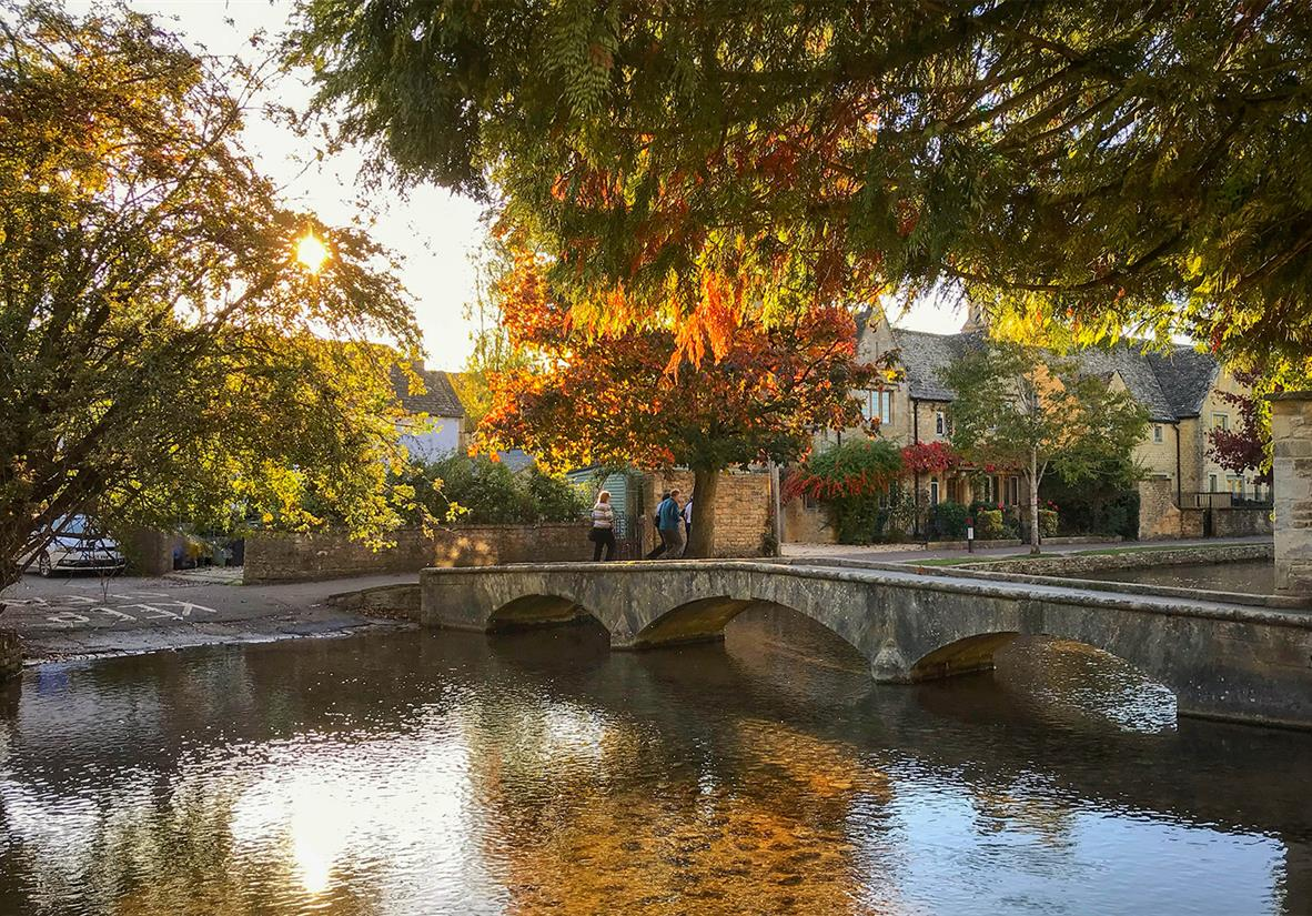 The peaceful village of Bourton-on-the-Water