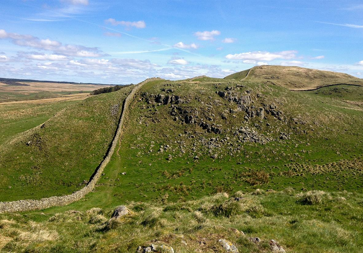 The wall meandering through the landscape