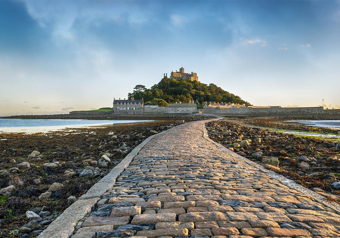 Walk the cobbled path towards St. Michael's Mount