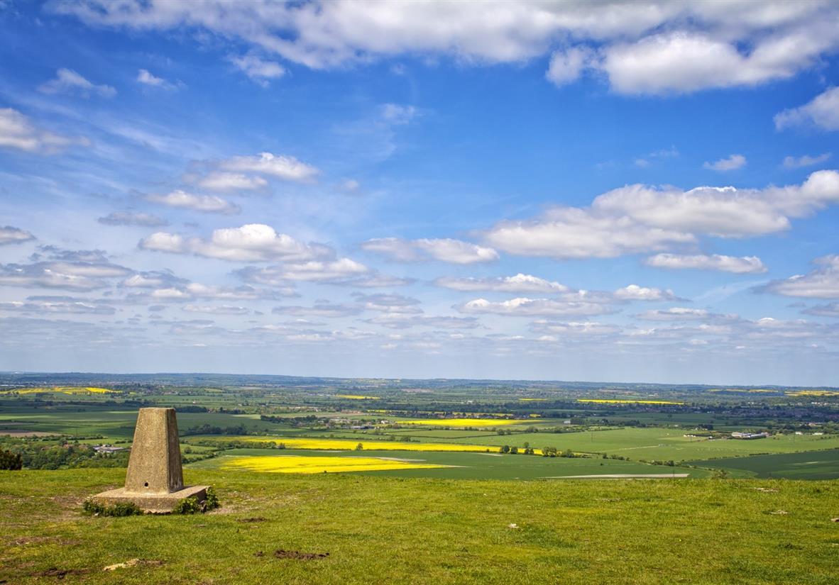 Views over patchwork farmland