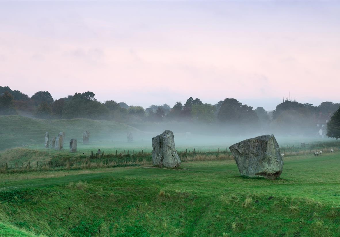 The iconic standing stones in Avebury