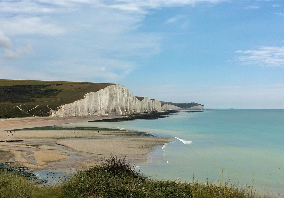 The Seven Sisters chalk cliffs on the south coast