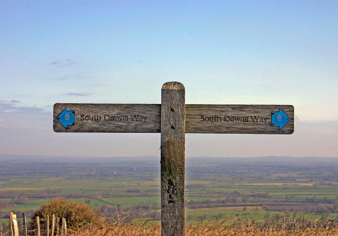 South Downs Way signpost to help you find your way