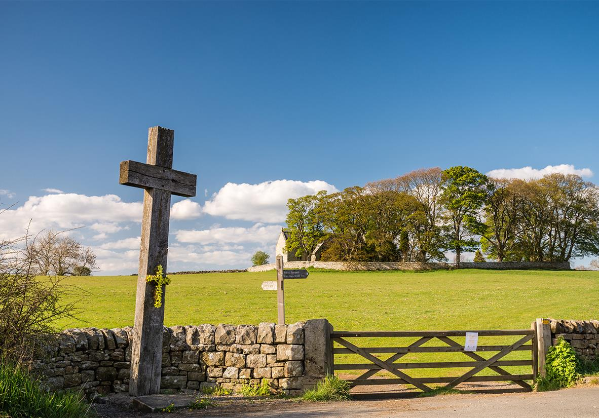 Cross in the aptly named town of Heavenfield