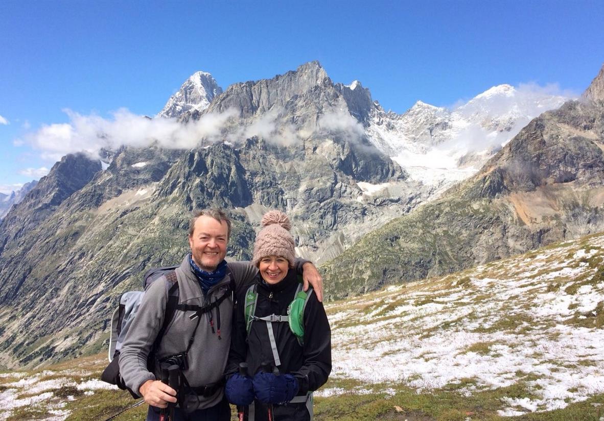 Happy TMB hikers