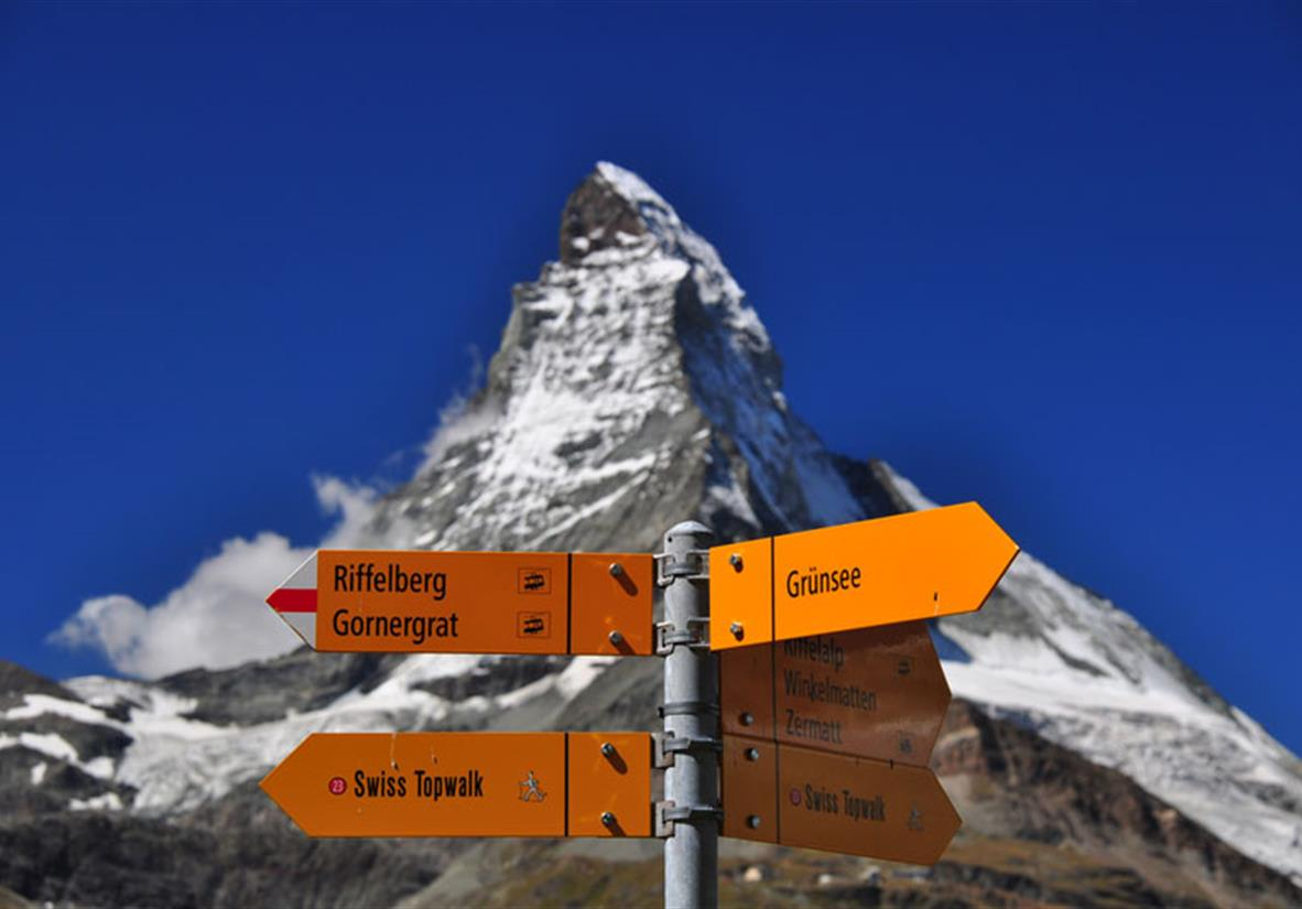 Sign post and the Matterhorn