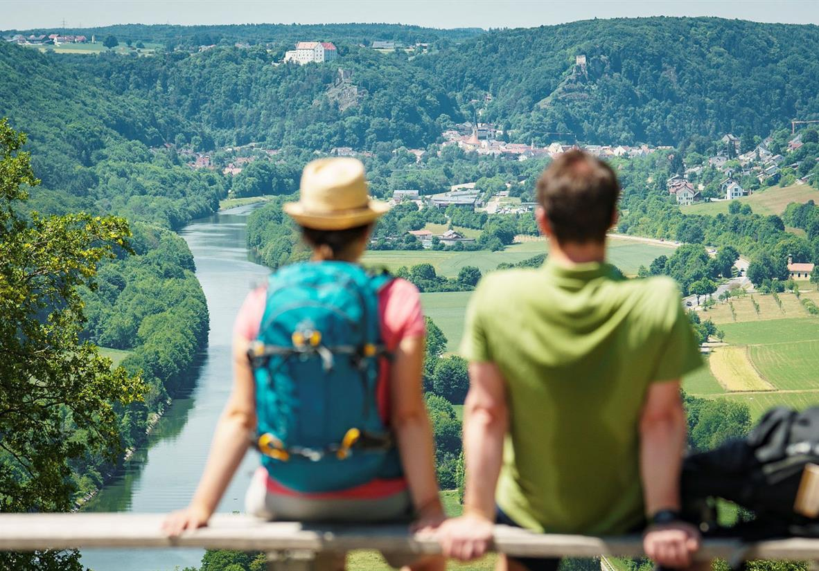 Ausblick Burg Prunn © Naturpark Altmühltal