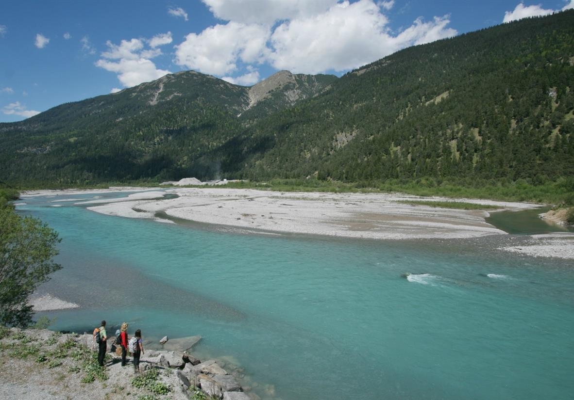 Der wilde Fluss Lech © WG Lech-Wege