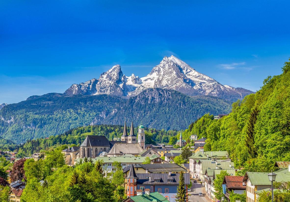 Berchtesgaden and views of the Watzmann