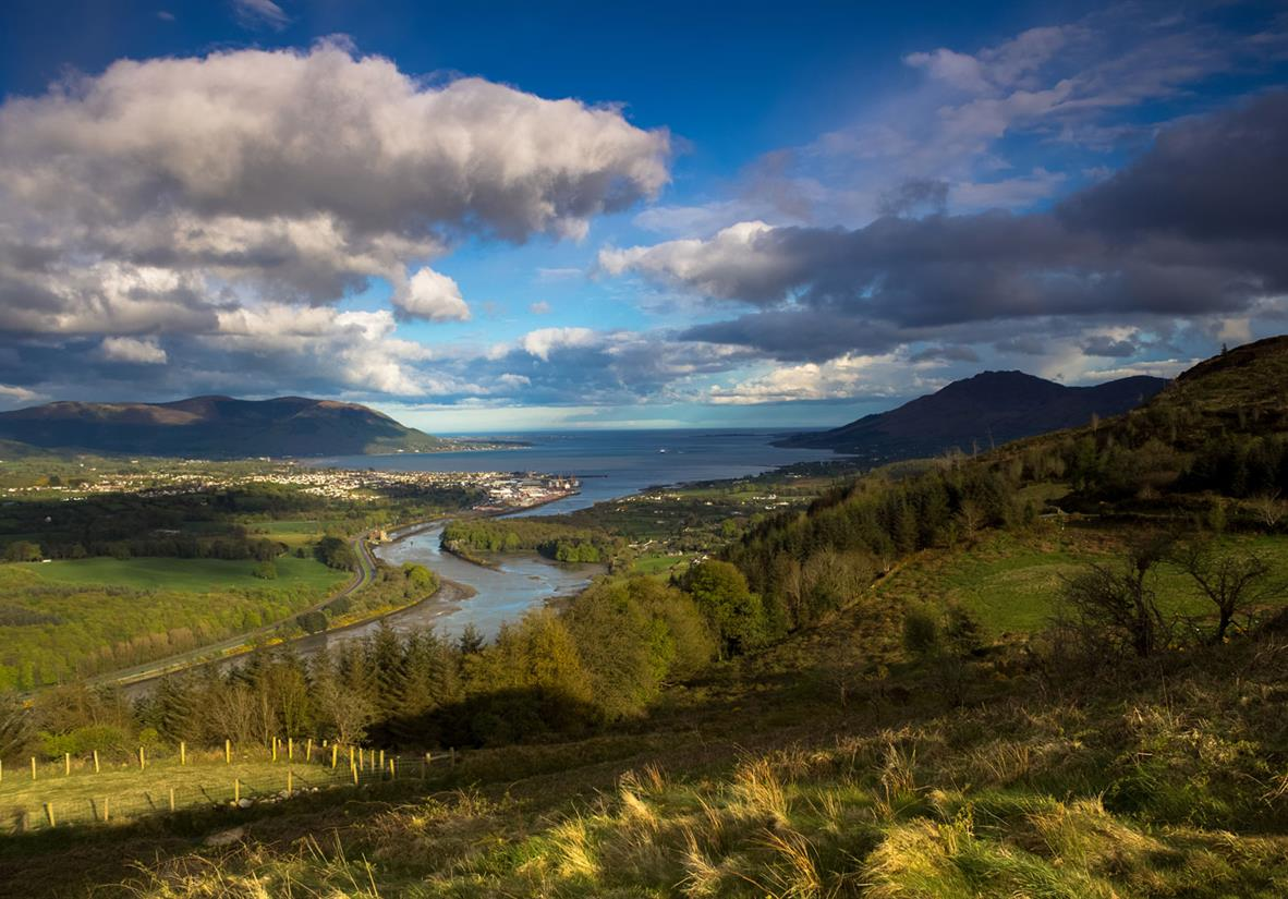 Carlingford Lough & die Mourne & Cooley Mountains