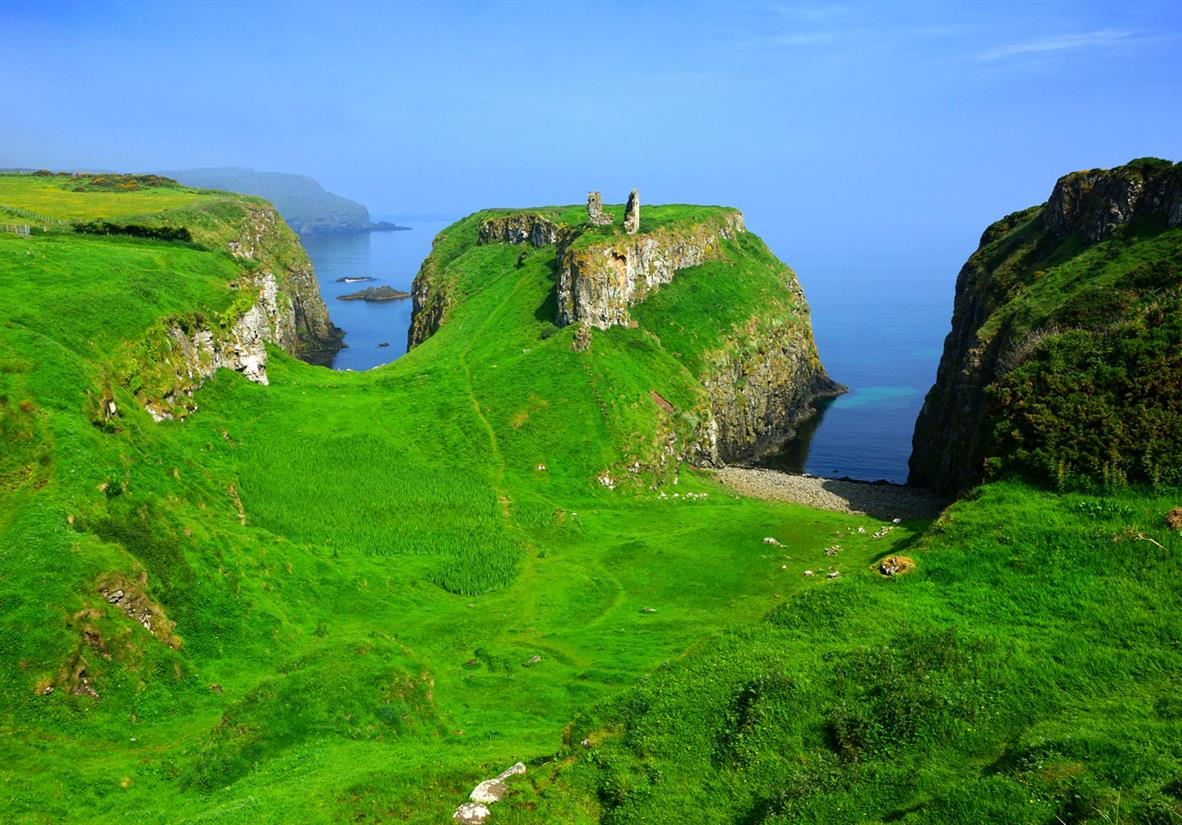 The ruins of the Dunseverick Castle