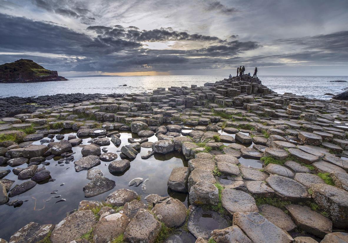 Mystische Basaltsäulen am Giant's Causeway