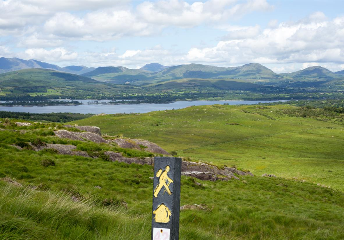 Herrliche Landschaft auf dem Kerry Way