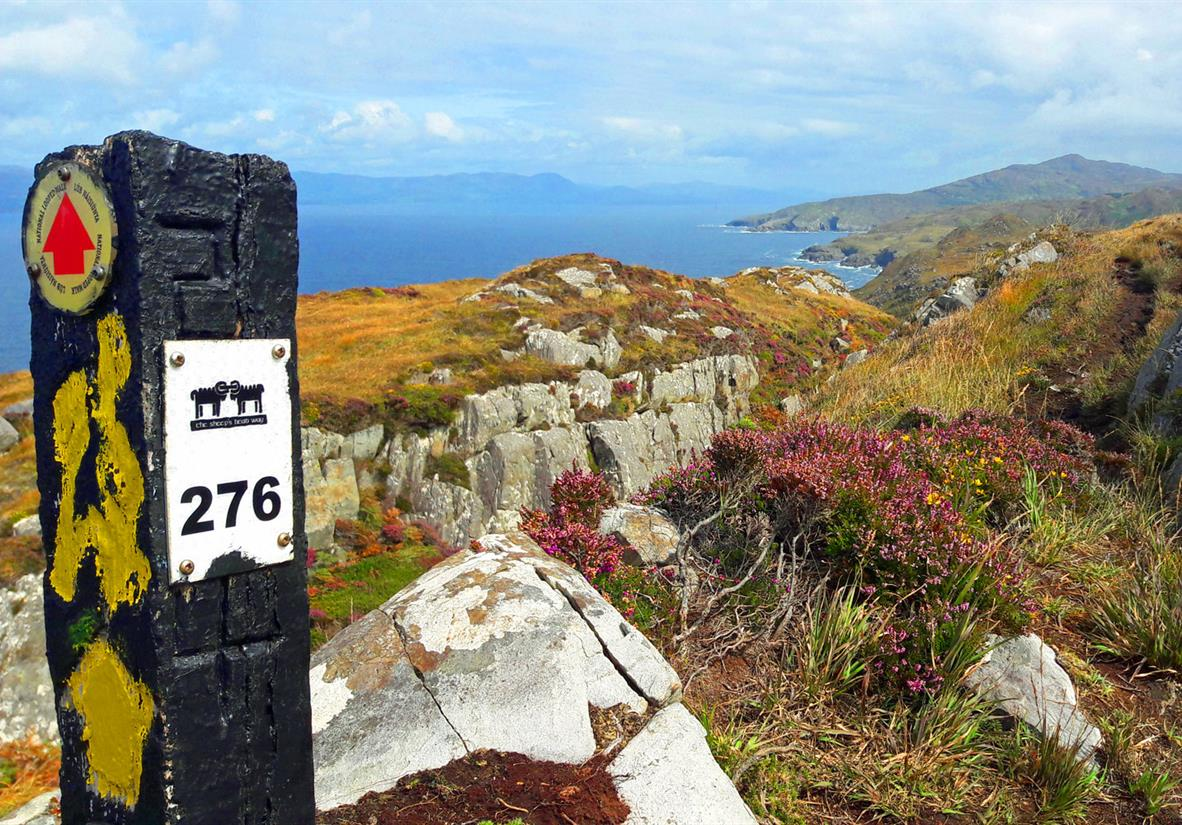 Magnificent views with waymarker