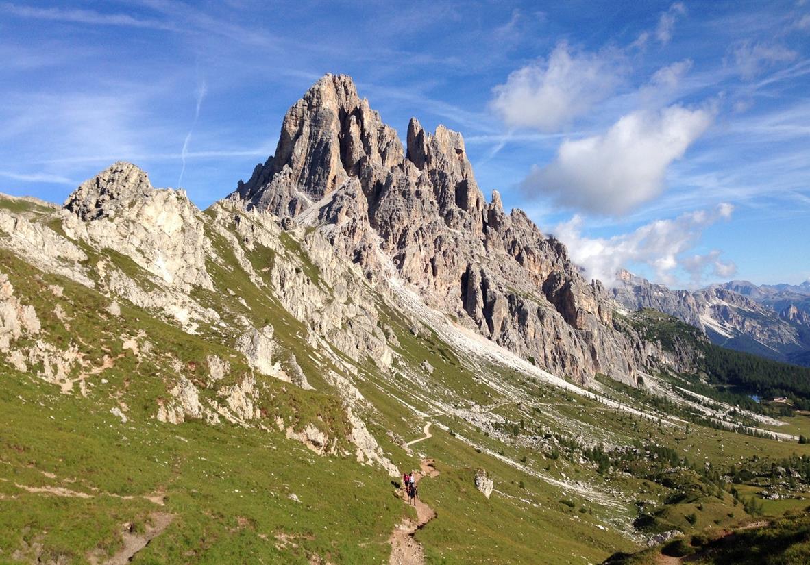 Jagged peaks of the Dolomites