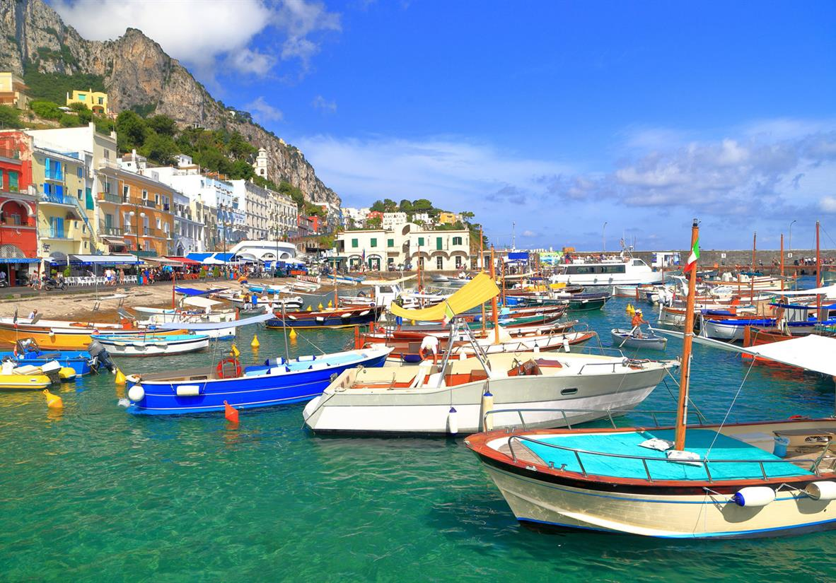 Marina Grande on Capri Island